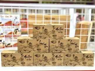 Đặc sản Huế - Trà hoa sen túi lọc Hoa Lư - Hộp 25 túi lọc x 2g