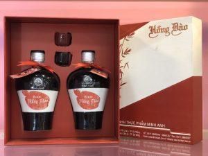 Hộp quà rượu hồng đào chum Minh Anh